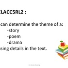5th Grade Common Core Reading Standards --Student Friendly