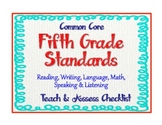"5th Grade Common Core Standards  - ELA and Math ""Teach and"