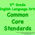 5th Grade Common Core Standards Posters - English Language Arts