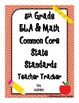 5th Grade Common Core State Standards Teacher Tracker ELA &amp; Math
