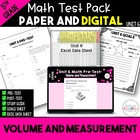 5th Grade Common Core Unit 7 Math Test: Volume and Measurement