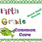 5th Grade Common Core Word Wall Vocabulary Cards Frog Theme!
