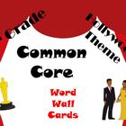 5th Grade Common Core Word Wall Vocabulary Cards Hollywood Theme!