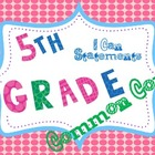 5th Grade ELA Common Core Posters * I Can Statements * Pol