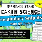 5th Grade Earth Science STAAR-Sedimentary Rocks and Fossil