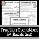 5th Grade Fractions Unit {Circus Theme}