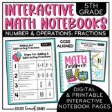 5th Grade Interactive Math Notebook - Fractions