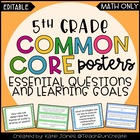 5th Grade MATH Common Core {Essential Questions & Learning