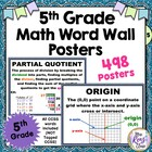 Math Vocabulary Posters {5th Grade} All CCSS-M Math Word W