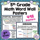 5th Grade Math Vocabulary Poster Set / Math Word Wall +mor
