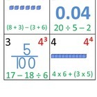5th Grade Math Calendar - 4 Month Package:  Aug - Nov