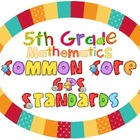 5th Grade Math Common Core GPS Posters