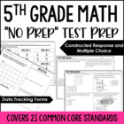5th Grade Math Common Core Test Prep Helper Bundle {19 Com