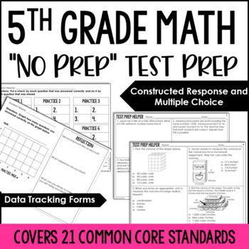 5th Grade Math Common Core Test Prep Helper Bundle {19 Common Core Standards}