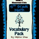 5th Grade Math Common Core Vocabulary Complete Pack *Domain 4*