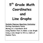 5th Grade Math Coordinates and Line Graphs
