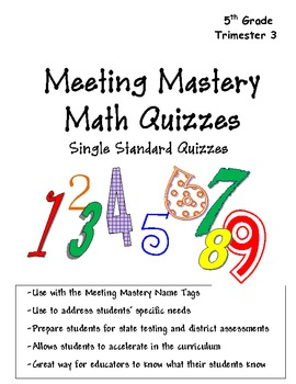 5th Grade Math Meeting Mastery Quiz Book Trimester 3 compl