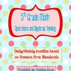 5th Grade Math Operations and Algebraic Thinking Daily Pra