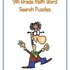 5th Grade Math Vocabulary Word Search Puzzles