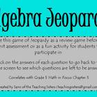 5th Grade Math in Focus Chapter 5 Jeopardy Review Game