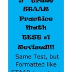 5th Grade STAAR Practice Math Test #1 Revised (Same test,
