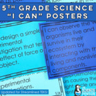 5th Grade Science TEKS Posters