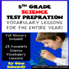 5th Grade Science Vocabulary, 27 Weekly Lessons,Differenti