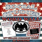 5th Grade Social Studies Word Wall Cards - Common Core