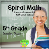 5th Grade Spiral Math Homework and Quizzes -- Quarter THREE