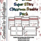 5th Grade Super Stars Classroom Freebie Pack