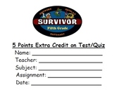 5th Grade Survivor Extra Credit Pass