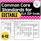 6-12 Common Core Standards Supporting IEP Goals for Englis