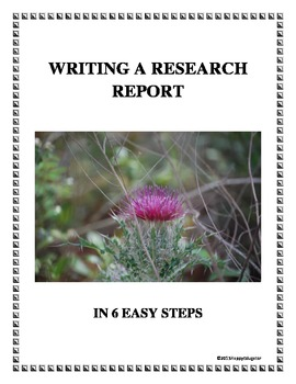 6 Steps to Writing a Research Report Handout