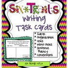 6-Traits Writing Task Cards: 60 Cards with CCSS in Color and B&W