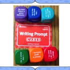 6 Writing Prompt Cubes