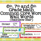 6th, 7th and 8th Grade Math Common Core Word Wall Words- R