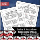 6th Grade Common Core Math Practice Sheets- Ratios & Propo