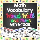 6th Grade Common Core Math Vocabulary