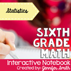 6th Grade Interactive Notebook Bundle- Statistics- Aligned
