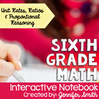 6th Grade Interactive Notebook Bundle- Ratios and Proporti