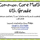6th Grade Math CCSS Posters and Wall Cards