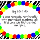6th Grade Math Common Core Big Ideas - Basic Brights