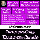 6th Grade Math Common Core Complete Resource Bundle