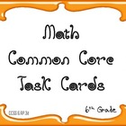 6th Grade Math Common Core Task Cards 6.RP.3d