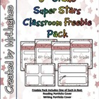 6th Grade Super Stars Classroom Freebie Pack