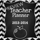 6th Grade Teacher & Lesson Planner Editable w/Common Core