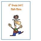 6th Grade Unit I Math Minis