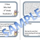6th Grade Vocabulary Game 1