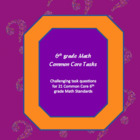 6th grade math common core tasks