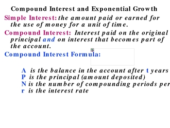 7-2 Compound interest